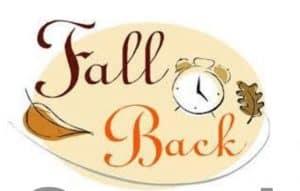 Fall Back Day Light Savings